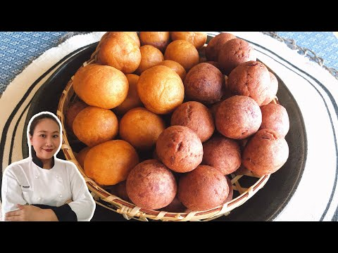 Sweet Potato Recipe • Thai Sweet Potato Balls •Easy Sweet Snacks |ThaiChef food