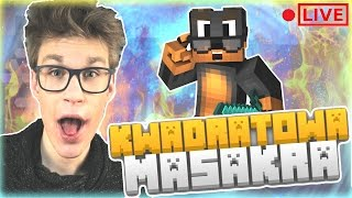[ LIVE ] - KWADRATOWA MASAKRA | BEAN BOOZLED CHALLENGE & BRAT w Minecraft 1.11 ( ͡° ͜ʖ ͡° )