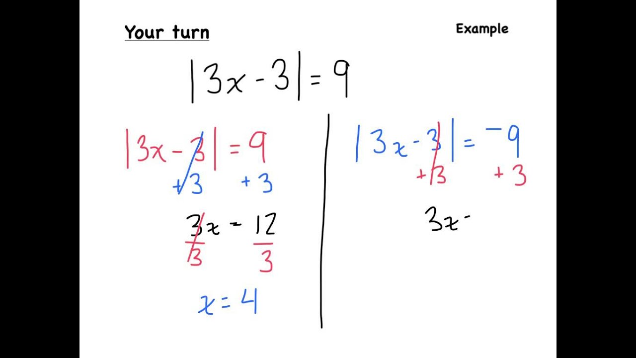 8 2 5 Solving Equations Involving Absolute Value