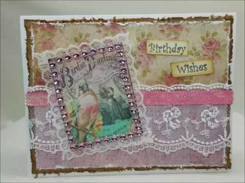 Mixed media greeting cards vintage style youtube mixed media greeting cards vintage style m4hsunfo