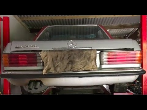 Mercedes 280sl R107 Fuel pump fuel filter and aculator change - Part on