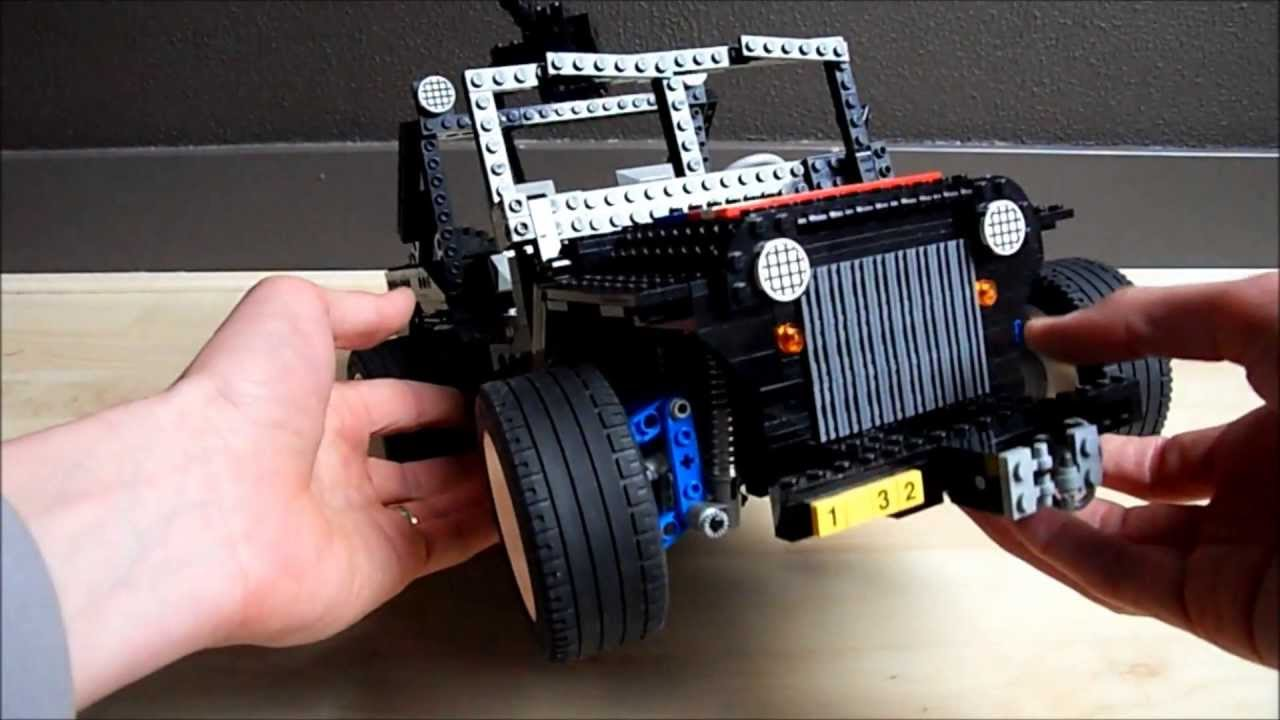 lego jeep willys 4x4 moc technic army youtube. Black Bedroom Furniture Sets. Home Design Ideas