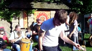 The Cleveland Drum Circle at Hessler Street Fair in Harmony Park 2012