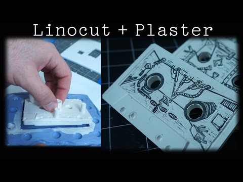Linocut Printmaking With Plaster of Paris - No Press Required!