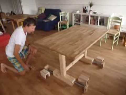 table transformable haute et basse youtube. Black Bedroom Furniture Sets. Home Design Ideas