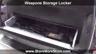 Storing Weapons In Vehicles | Locking Trunk Cabinets For Guns Rifles Pistols Shotguns