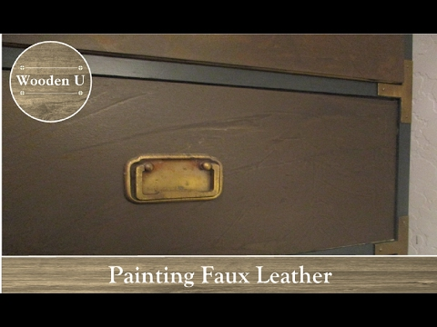 Painting Faux Leather - Wooden U