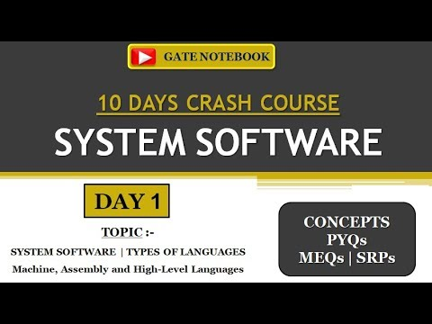 SYSTEM SOFTWARE | 10 DAYS CRASH COURSE | DAY 1 - SYSTEM SOFTWARE & TYPES OF LANGUAGES