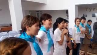 """Разминка """"Таңды қалай қарсы аламын"""" тренинг вожатые"""