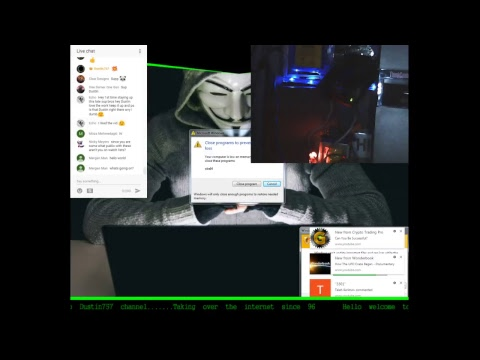 Live Stream Server Farm : Mining Bitcoins and Watching Global Cyber Attacks