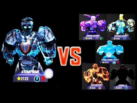 Real Steel Champions ATOMPRIME ELECTRO VS ALL REGION V ROBOTS Series of fights NEW ROBOT(Живая Сталь