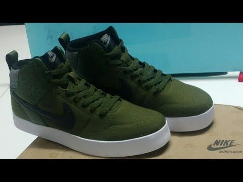 Unboxing of Nike Men Olive Green Liteforce III Mid Top Sneakers