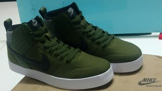 Unboxing of Nike Men Olive Green Liteforce III Mid Top Sneakers