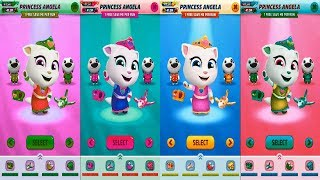 Talking Tom Gold Run (3 Star) Colors Reaction PRINCESS ANGELA Catch the Raccoon - Medieval World Map