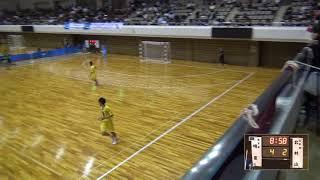 6日 ハンドボール男子 あづま総合体育館 Bコート 明星vs北村山 2回戦 1