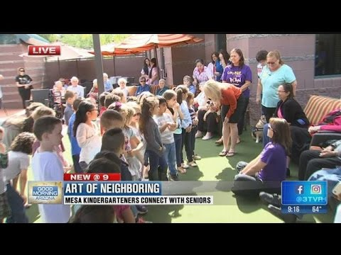 Mesa kindergarteners connect with seniors