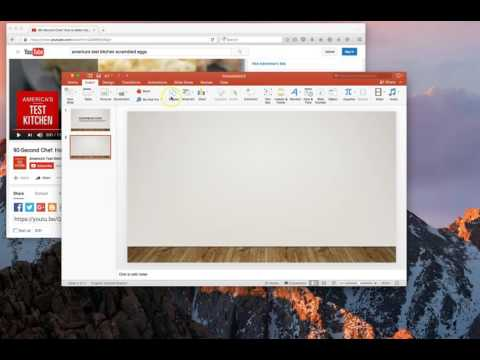 Inserting a YouTube video into PowerPoint 2016  - Macintosh