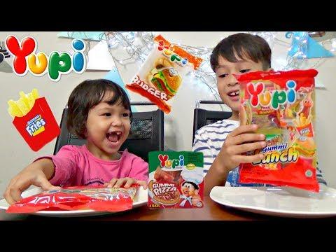 Yupi Gummi Lunch 馃崝Gummy Burger, Pizza 馃崟