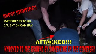 """GHOST BULLY IN CEMETERY! GHOST SPEAKS TO US """"CAUGHT ON CAMERA""""!!"""