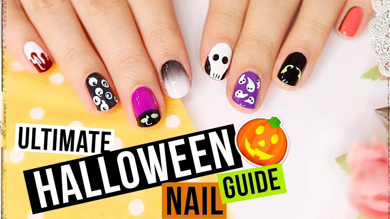 HALLOWEEN NAIL GUIDE - 10 super einfache NAGELDESIGNS für Halloween ...