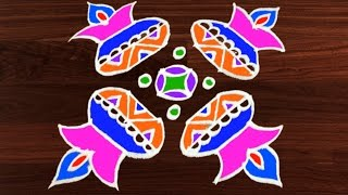 Rangoli Art | 6 x 6 Dots | Easy Rangoli Designs with Kolam by Sunitha #295