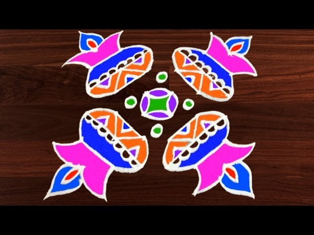Rangoli Art | 6 x 6 Dots | Easy Rangoli Designs with Kolam by Sunitha #295