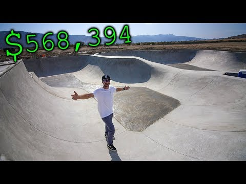 MY BRAND NEW $568,394 PRO SCOOTER SKATEPARK!