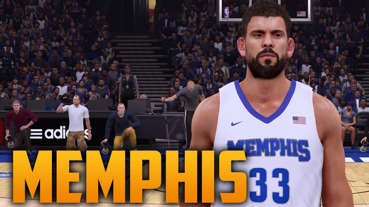 brand new 0bac7 d8a4d NBA 2K16 Memphis Tigers Court & Jersey Tutorial