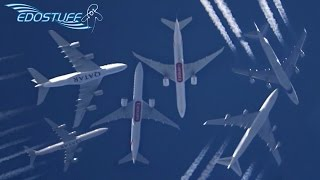 Heavies Above Split Croatia - HD Contrail Spotting Compilation