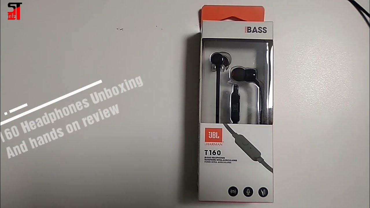 06b8d3036cc JBL T160 Headphones Unboxing   hands on review - YouTube