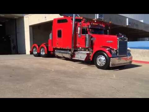 Trucks Leaving the Great American Truck Show 2016