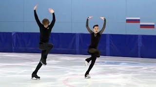 Елизавета Шанаева Дэвид Нарижный Ритм танец Контрольные прокаты по фигурному катанию
