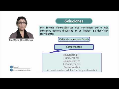 Formas farmacéuticas líquidas orales: Soluciones