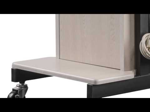 Computer Presentation Cart w/ Locking Cabinet &Six Outlet Power Strip - LCS250