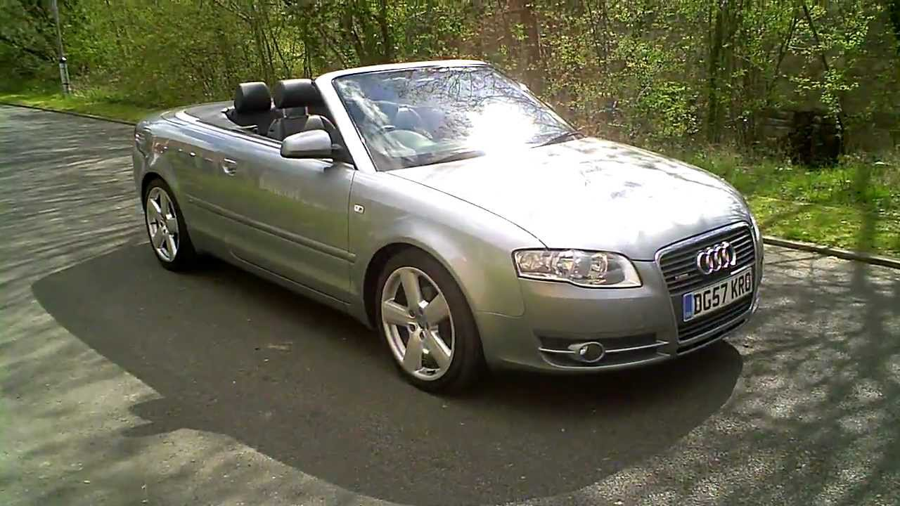 2007 57 audi a4 convertible 2 0 tdi s line automatic cabrio youtube. Black Bedroom Furniture Sets. Home Design Ideas