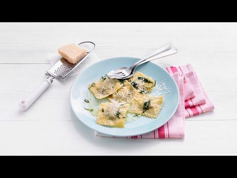 Ravioli met champignon-hamvulling – Allerhande