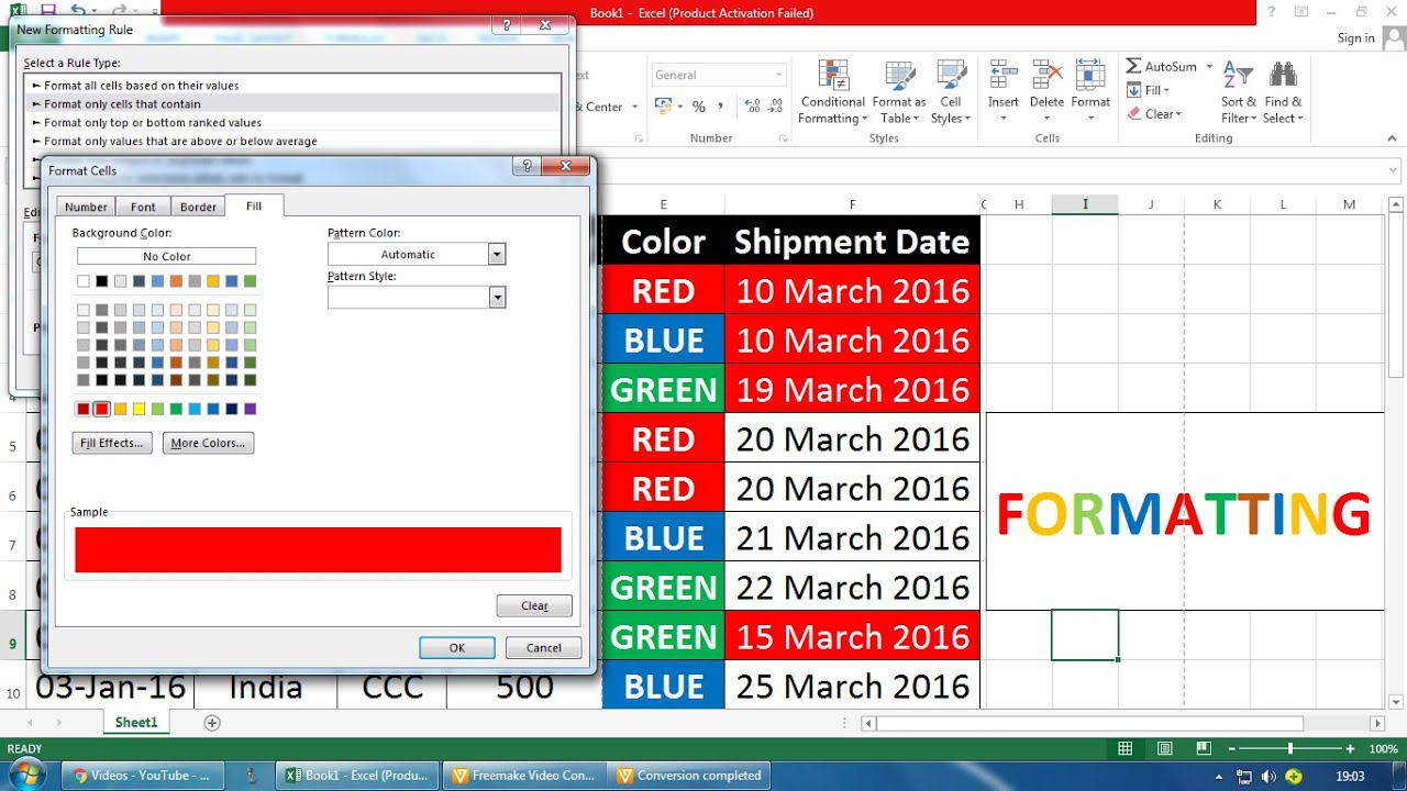 how to add the date in excel