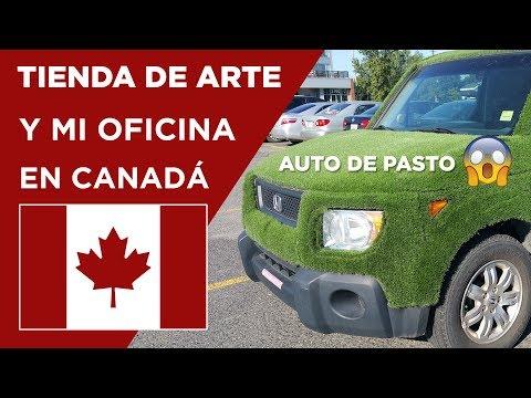 Auto de pasto - Mi oficina y tienda de arte en Canadá - Vlog #15