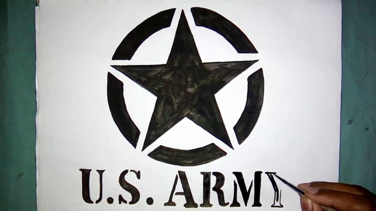 How to draw the US Army star logo