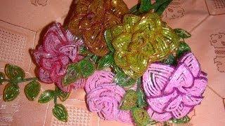 Цветы из бисера | Cхема плетения | Cвоими руками(Схема плетения цветов из бисера. Бисерные розы урок рукоделия (бисероплетение). Подробности на сайте - http://bis..., 2012-11-15T20:51:13.000Z)