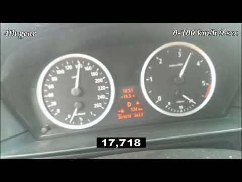 0-170 km/h acceleration BMW 530d E60 218 Hp automatic