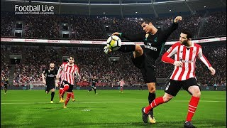 PES 2018 | ATHLETIC BILBAO vs REAL MADRID | C.Ronaldo 3 Goals HatTrick & Full Match | Gameplay PC