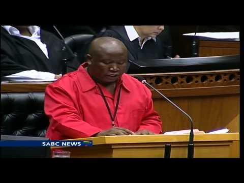 Julius Malema reacts to SONA 2014 in parliament
