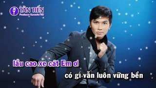 [ Karaoke HD ] Tình Nghèo Có Nhau - Mạnh Quỳnh Full Beat ✔