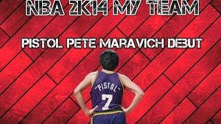 NBA 2K14 My Team - Pistol Pete Maravich Game Winner In Debut?!