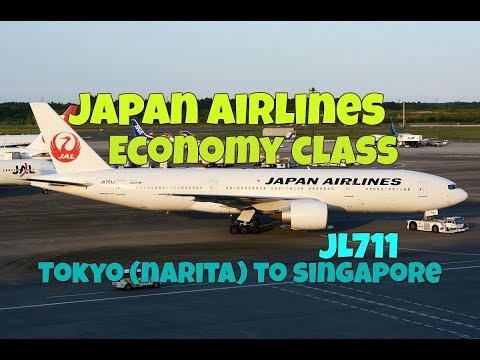 Japan Airlines Economy Class Experience: JL711 Tokyo (Narita) to Singapore