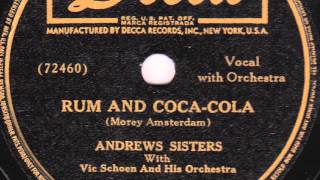 Rum And Coca-Cola [10 inch] - Andrews Sisters with Vic Schoen & His Orchestra