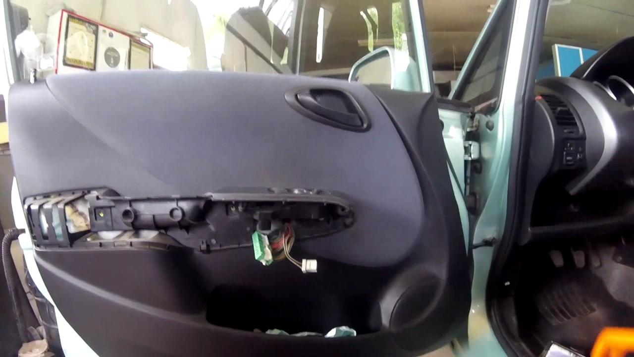 Honda Jazz Fit 2001 2008 Door Panel Removal Youtube