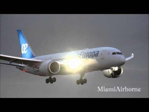 2e0726321f Air Europa 787 Landing at Miami International - YouTube