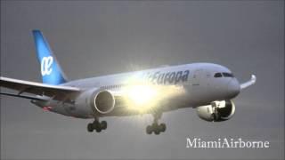 Air Europa 787 Landing at Miami International